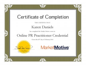 Market Motive Online PR Certification